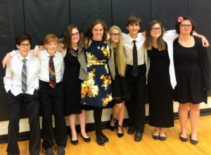 Ms. Miller & the ACMS Honor Choir SIngers 2016