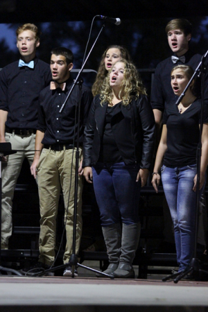 Chamber Chorale singing at Greater Andover Days