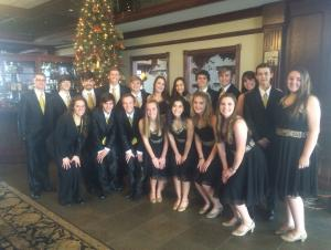 Chamber Chorale Performing for the Andover Rotary Club 2016