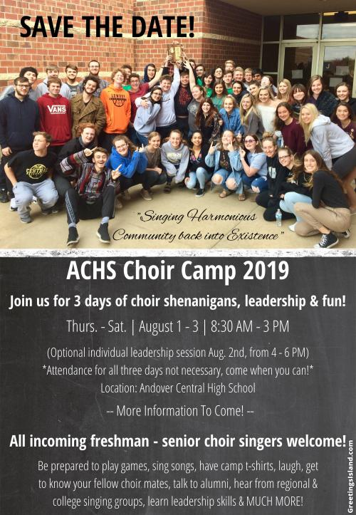 2019 Choir Camp Information