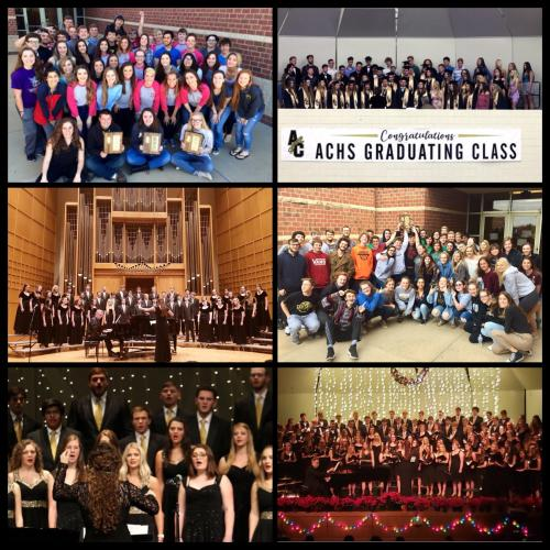 ACHS Chorale over the years leading up to this moment!