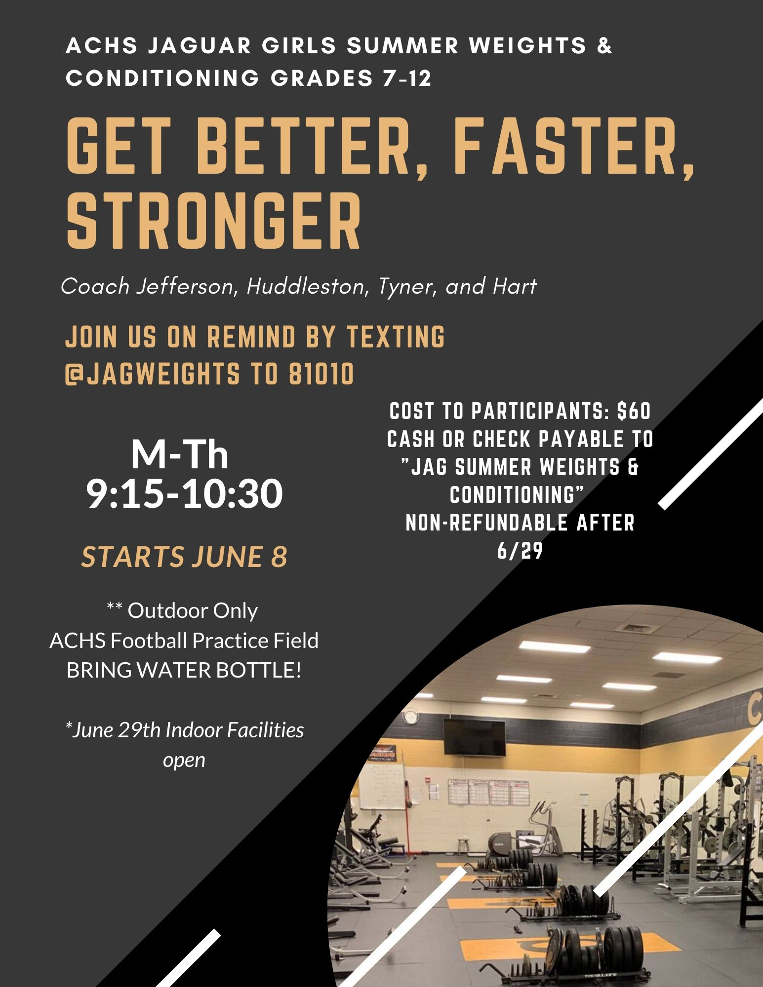Summer Weights Flyer