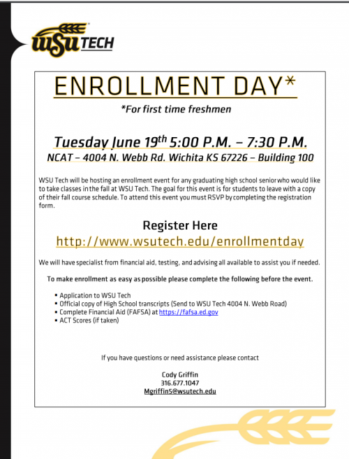 WSU Tech Enrollment Day