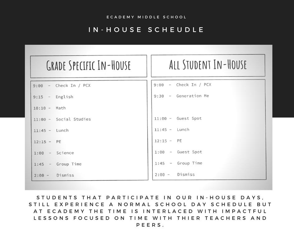 In-House Schedule