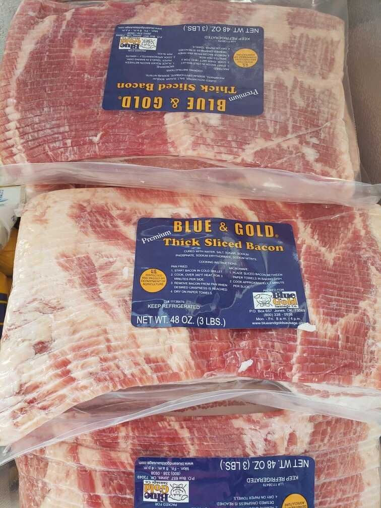 Blue and Gold Bacon - 3 Pounds for $16