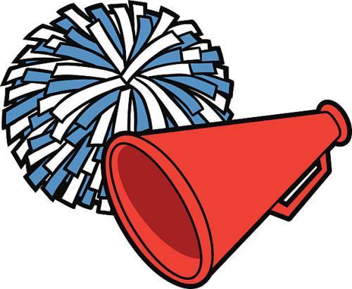 image of a pom pom and a megaphone