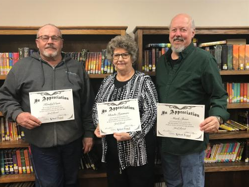 School Board Members with certificates