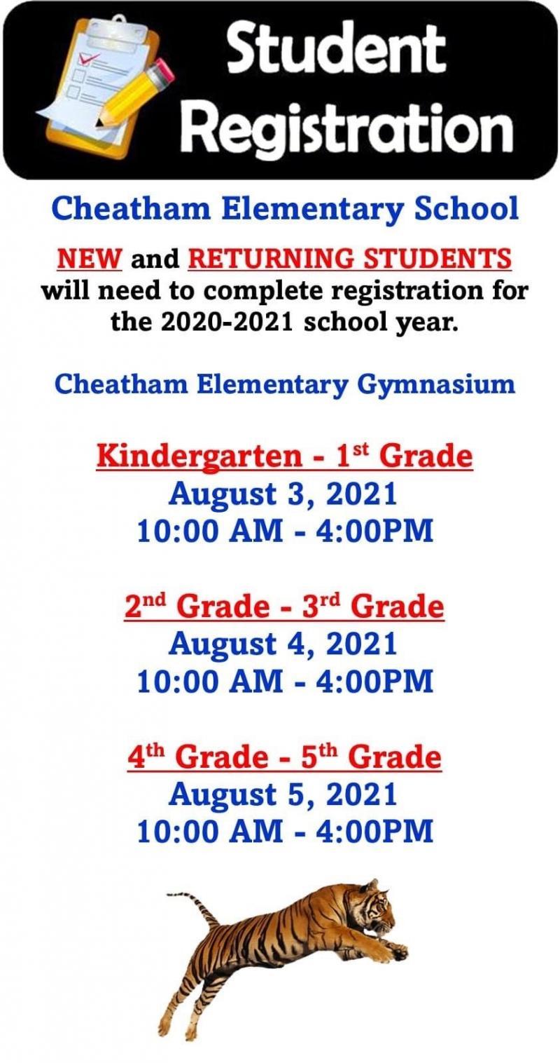 Cheatham Elementary Registration