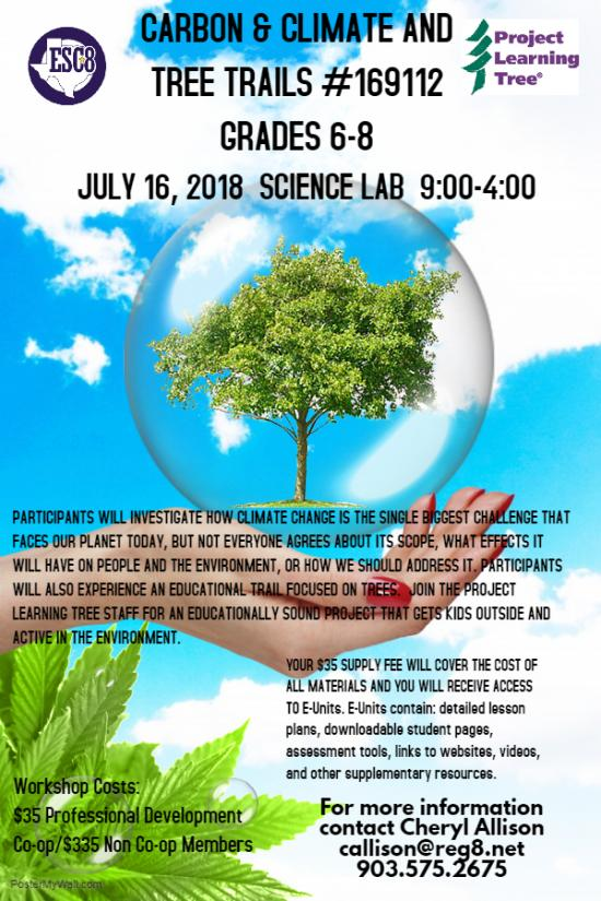 Carbon & Climate And Tree Trails - July 16th