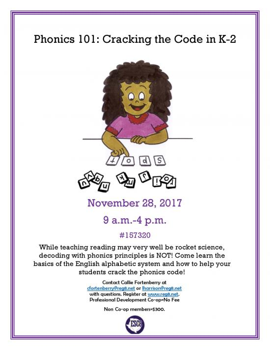 Phonics 101: Cracking the Code in K-2