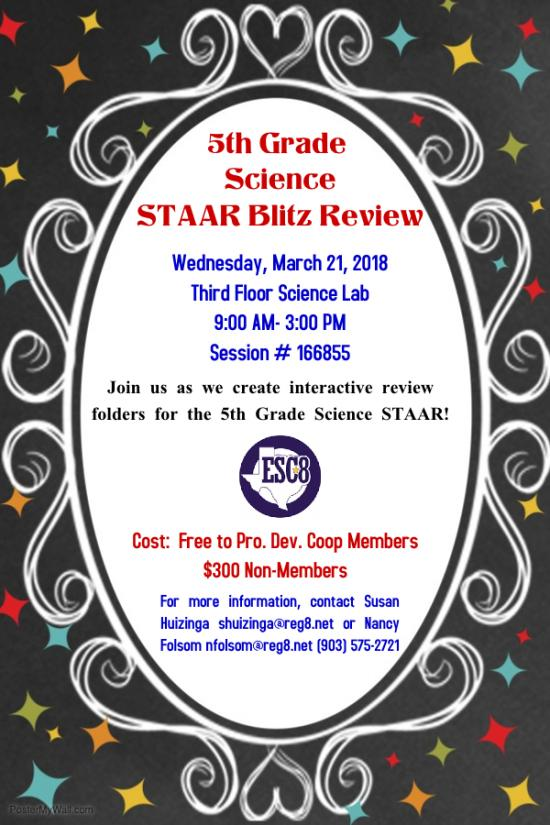 5th Grade Science STAAR Blitz Review - March 21st