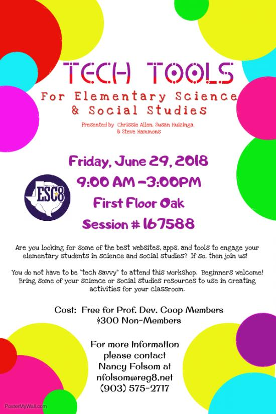 TECH TOOLS For Elementary Science & Social Studies -  June 29th