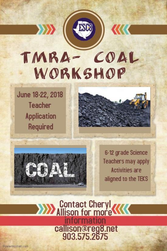 TMRA - Coal Workshop - June 18th - 22nd.