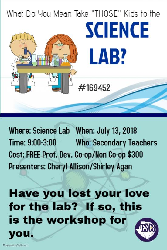 "What Do You Mean Take ""THOSE"" kids to the SCIENCE LAB? - July 13th"