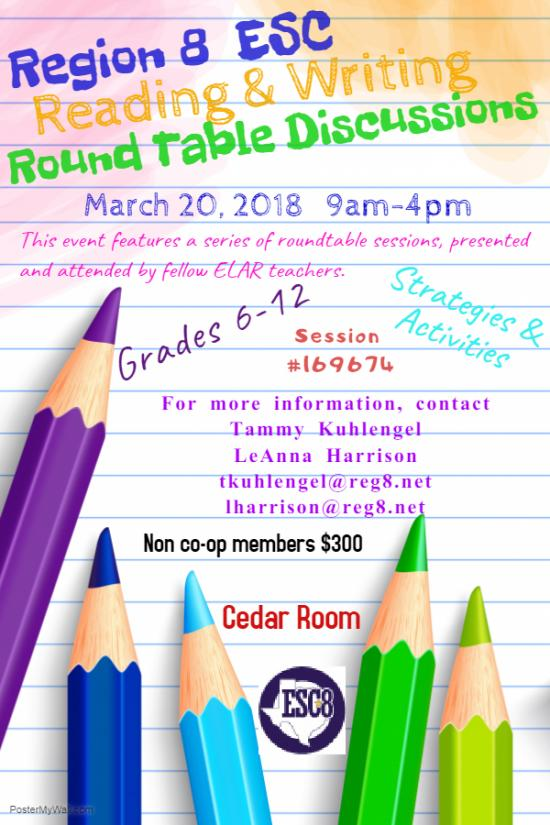 Reading & Writing Round Table Discussions - March 20th