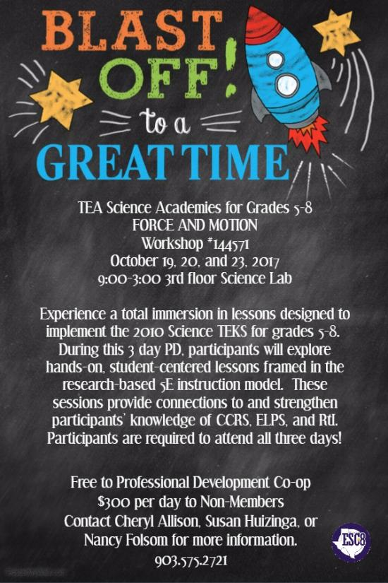 TEA Science Academies for Grades 5-8. Force & Motion.