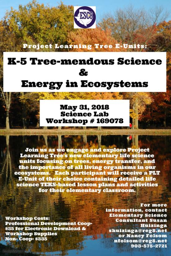 K-5 Tree-mendous Science & Energy In Ecosystems - May 31st