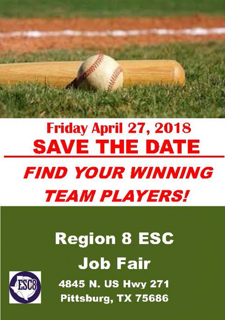 Region 8 ESC Job Fair Is Friday, April 27th!