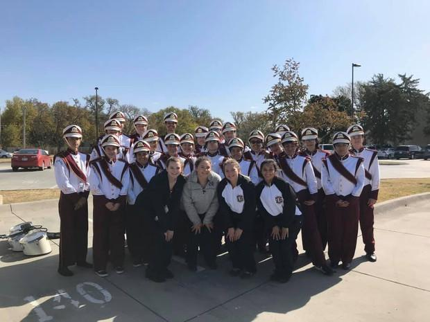 Trojan Marching Band and Color Guard compete in the High Plains Marching Festival