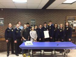 First Annual FFA Banquet and Charter Signing