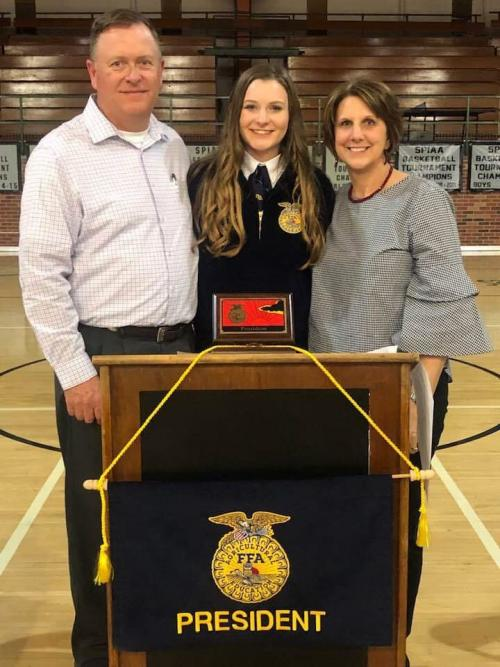 Sipes elected FFA District President