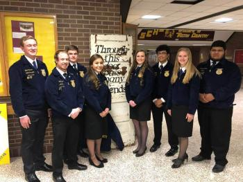 FFA Officers with District Officers