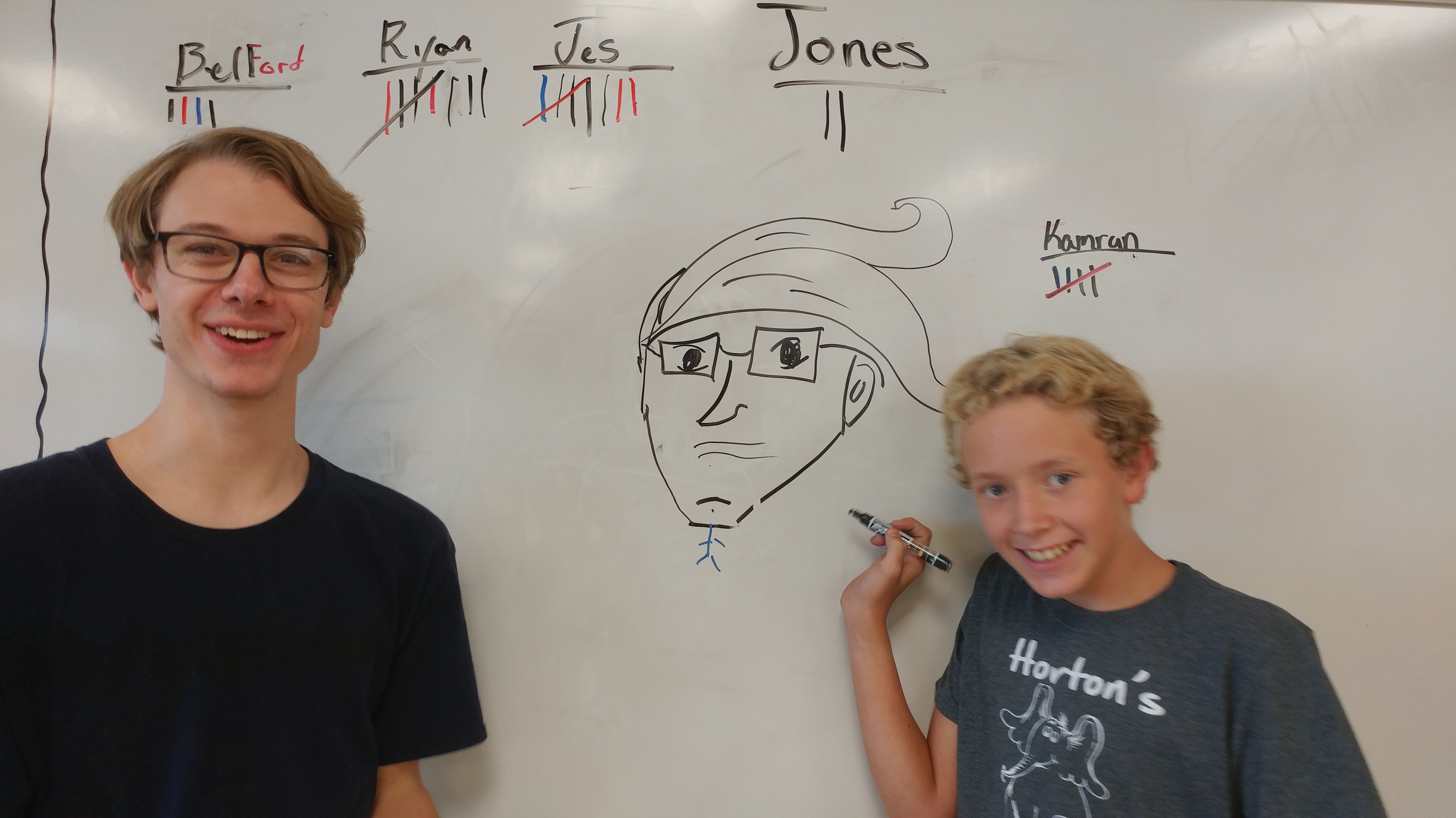 Ryan drew Mr. Jones for glasses in art pictionary