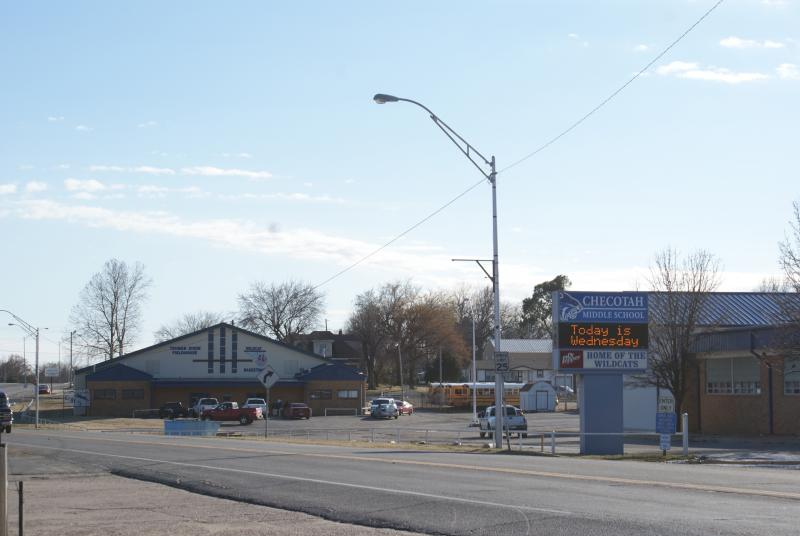 Landscape View facing Checotah Middle School