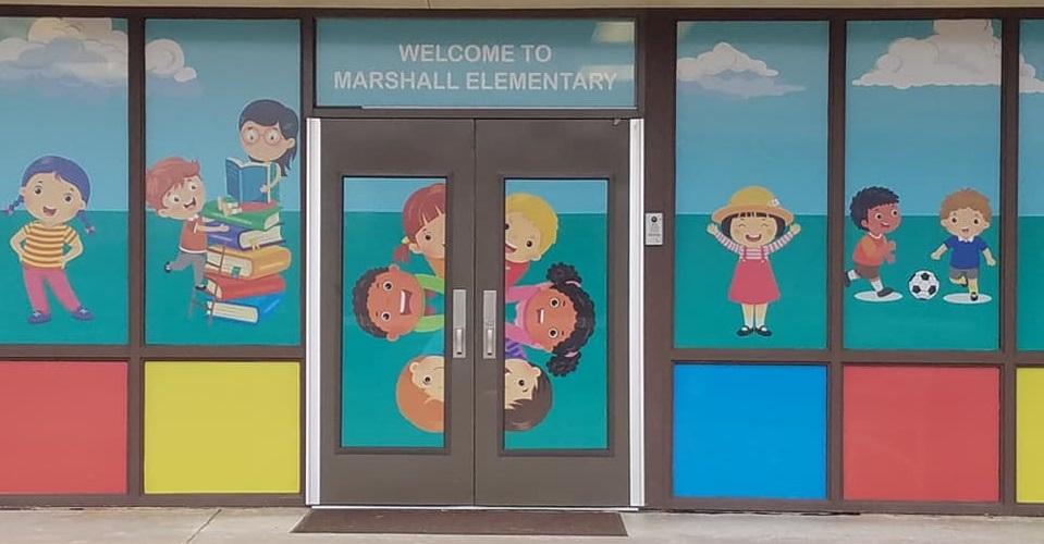 Marshall Elementary Entrance