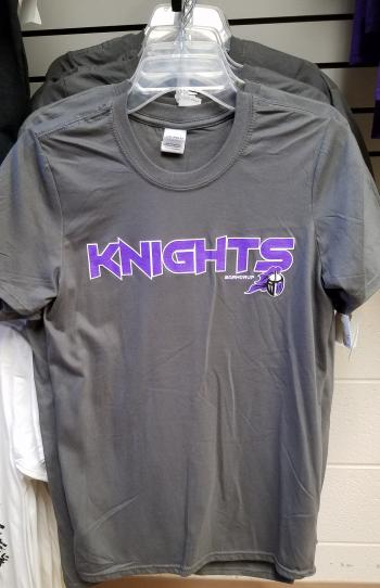 Gray Short Sleeve KNIGHTS T-shirt