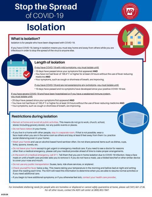 isolation guidance