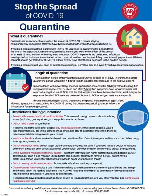 covid quarantine info