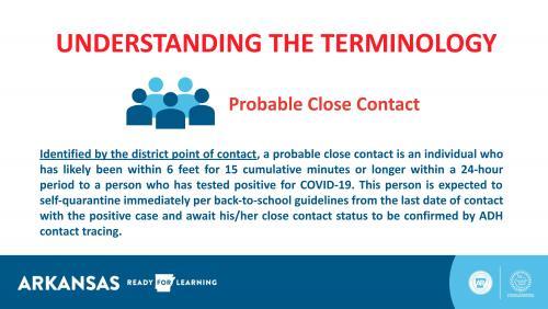 COVID - probable close contact