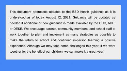2021 covid guidelines