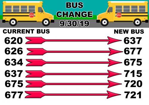 Bus Change Chart
