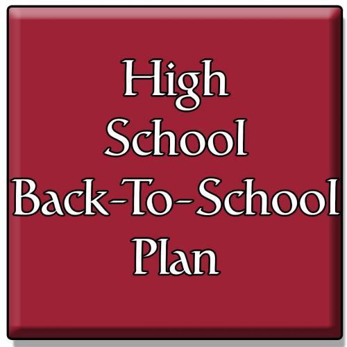 High School Back to School Plan
