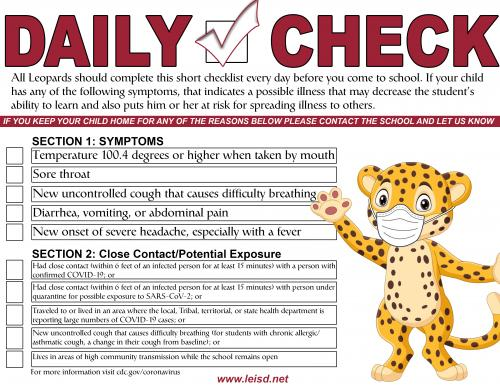 Student Daily Checklist