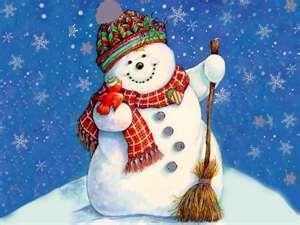 Snowman decor for December Activities Announcements