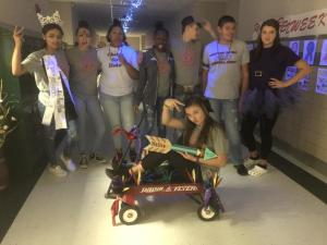 2018 - Zada Caldwell, Isabella Gray, Jae Cole, MonTerah Dewberry, Rylee Randolph, Noah Schrand, Addie Pierce and Jori Smith in wagon.