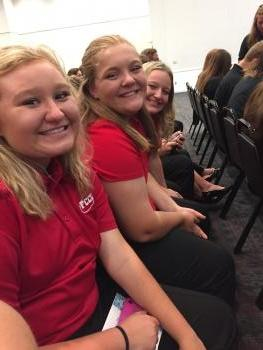 Emily, Vic, and Kylie at the LEAD conference.