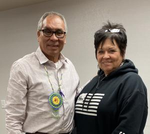 Choctaw Councilman District 1 - Thomas Williston and Choctaw Language Facilitator, Janet Long