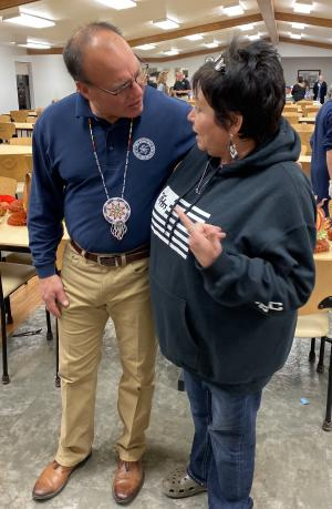 Choctaw Chief Gary Batton and Choctaw Language Facilitator Janet Long