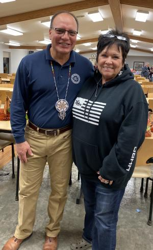 Choctaw Chief Gary Batton and Choctaw Language Facilitator Janet Long