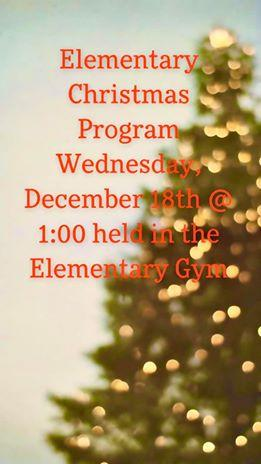 Elementary Christmas Program Flyer 2019