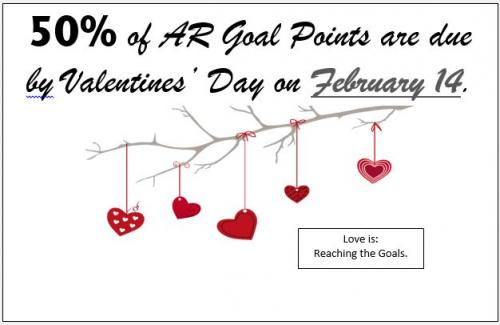 50% of AR Points Due on Feb. 14th