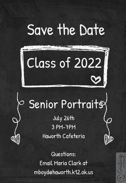 Senior Picture Date Flyer