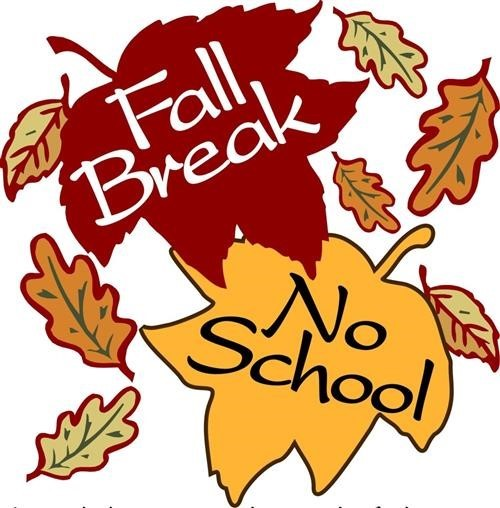 Leaves with Fall Break words