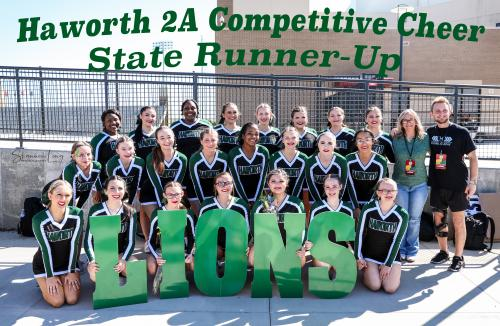 2021 Competitive Cheer State Championship Runner-up Group Picture of Cheerleaders