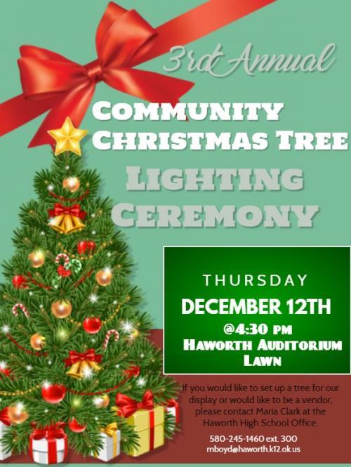 Annual Christmas Tree Lighting Flyer 2019