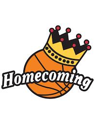 Basketball Homecoming Word Image w/ basketball and crown